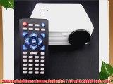 Aketek Home Cinema Theater Multimedia LED LCD Projector HD 1080P PC AV VGA USB HDMI(White)