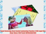 Royal Sovereign Heat Sealed Laminating Pouches 5 Mil Legal Size Clear Gloss (100 Pack) (RF05LEGL0100)