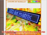 Leadleds Blue 40x 6.3 USB Programmable Indoor Led Scroll Message Display Sign Board with User