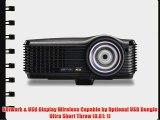 ViewSonic PJD7383 XGA 1024x768 Ultra Short Throw DLP Projector - 3000 Lumens 3000:1 DCR 120Hz/3D