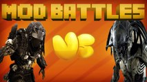ALIEN MOD vs PREDATOR MOD - Mod vs Mod - MINECRAFT MOD BATTLES (Ep. 6)