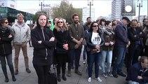 """Snowden, Assange und Manning: Mobiles """"Whistleblower""""-Denkmal in Berlin"""