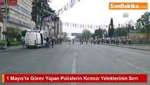 1 Mayıs Taksimde Polise Kırmızı Yelek