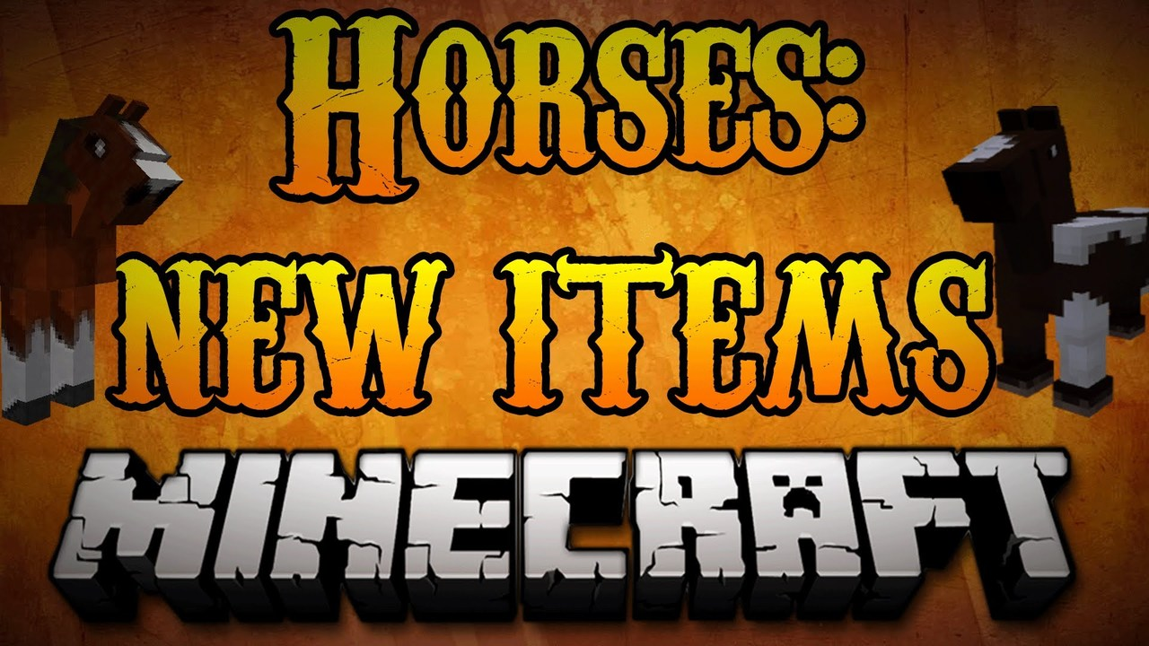 Minecraft Horses – How to use NEW (Hay, Lead, Saddle) Items for Horses  Minecraft 1.8
