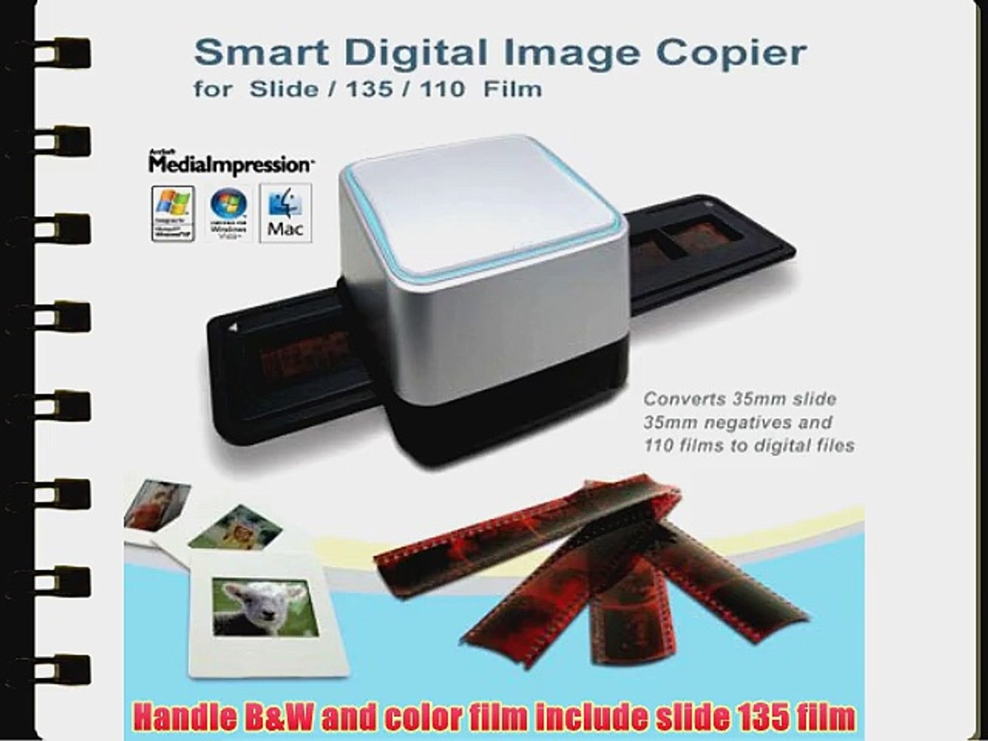 GMYLE? 35mm Negative Film Slide Scanner USB 5 15 Mega CMOS Sensor Digital  Image Photo Color