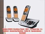 Uniden D1680-3 Cordless Phone - DECT - 1 x Phone Line - 3 x Handset - Answering Machine - Caller