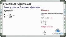 Fracciones Algebraicas - Clases de matemáticas - Tutores Online