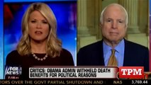 McCain To Fox:  No, The Shutdown Is The GOP's Fault