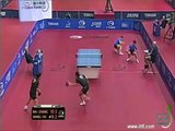 Amazing rally during table tennis doubles match
