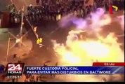 Estados Unidos: fuerte custodia policial para evitar más disturbios en Baltimore
