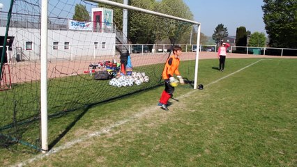 Antoine arrête un penalty