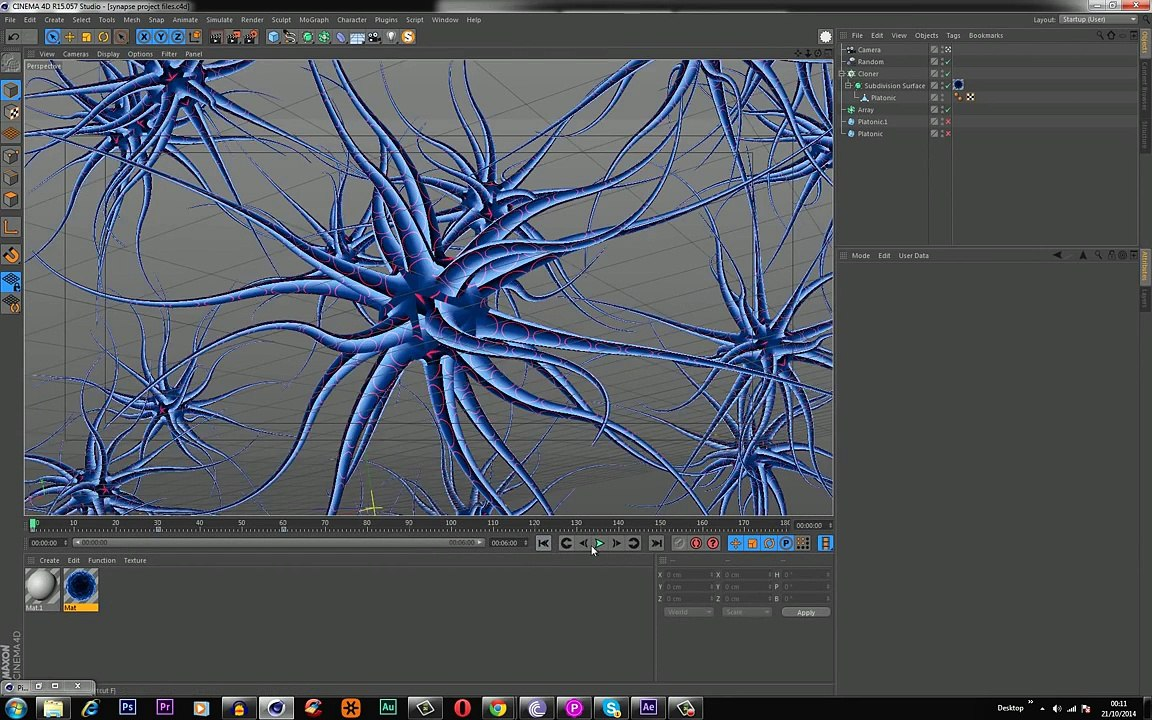 After Effects and Cinema 4D: Brain Cell Animation Tutorial