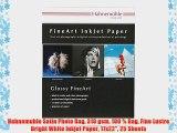 Hahnemuhle Satin Photo Rag 310 gsm 100 % Rag Fine Lustre Bright White Inkjet Paper 17x22 25