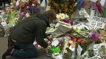Pencils, flowers, & notes: A memorial to Charlie Hebdo