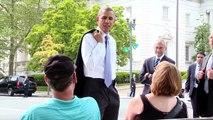 President Obama Walks The Washington Mall