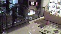 Moment man tackles machete wielding robber