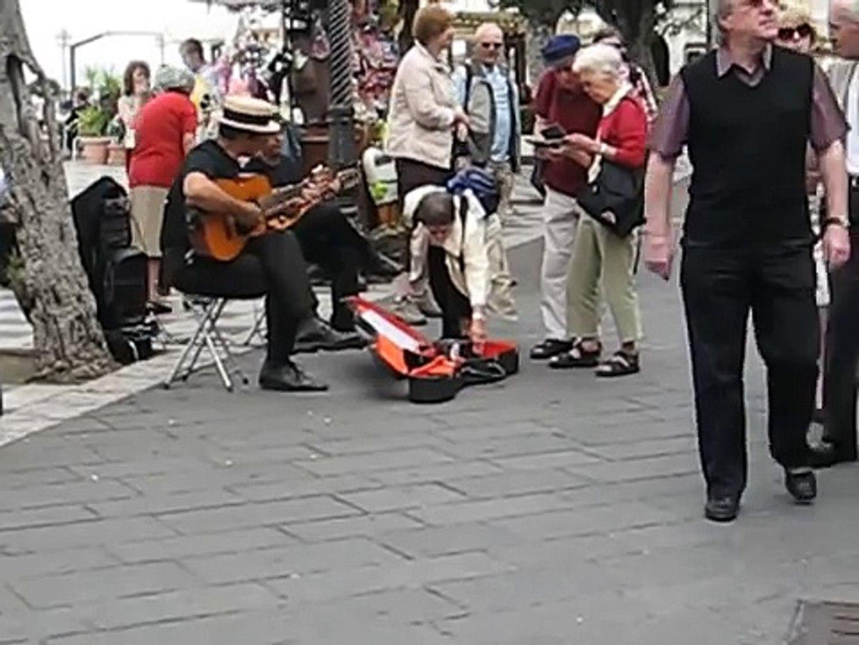 Sicily Travel: Street musicians in Taormina