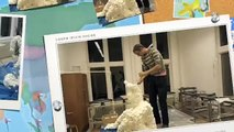 Create paper mache sculptures / papier mache beelden maken / hacer papel maché esculturas