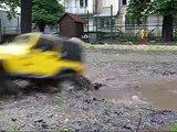 Tamiya CC-01 Jeep Wrangler YJ and Mitsubishi Pajero - The Wet Trail