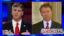 Sean Hannity gets mad at Rand Paul for refusing to blame Obama for chaos in Iraq