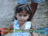 Muita emoção no velório da menina de três anos que morreu na Santa Casa de Araguari