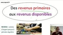 Des revenus primaires aux revenus disponibles. Notion d'économie