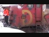Klargøring af My 1154 og MF 101 til sneryddning på Østbanen
