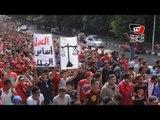 «أولتراس أهلاوي» يطوف بمسيرة لدار القضاء للإفراج عن زملائهم