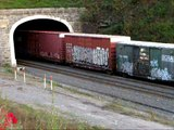 2 NS Trains at Gallitzin Tunnels 10/11/08