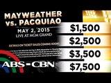 Inaabangang Pacquiao-Mayweather tickets, ilalabas na