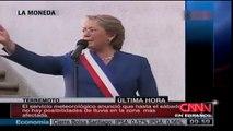 Con un emotivo discurso Bachelet se despidió hoy de los chilenos