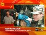 China earthquake response, faster than US Katrina response!