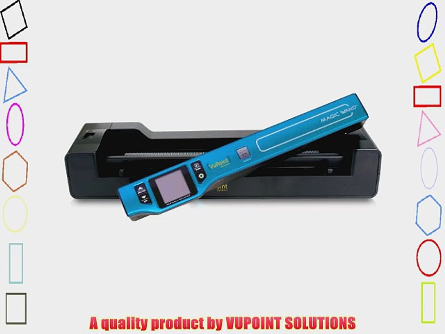 Vupoint Portable Scanner with Color Display /& Auto-Feed Dock PDSDK-ST470 Blue