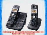 Panasonic KX-TG3032B 2.4 GHz Cordless Telephone w/Digital Answering machine and 2 handsets