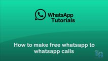 Whatsapp Call | Make free calls now... | Whatsapp Calling