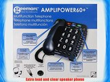 Geemarc Ultra Amplified Corded Telephone Loudest Telephone Available Black