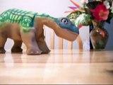 Dopey The Pleo RB Dino Walks!! (Ozzy and Skippy)  Dec 28 2011 (Clip#1 of 2)