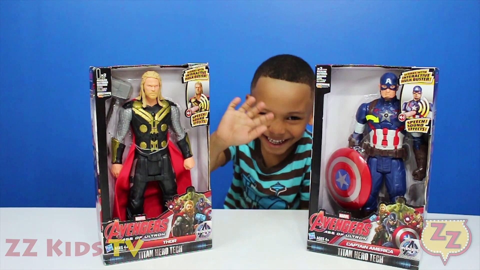 Surprise Toys: THOR vs CAPTAIN AMERICA, Avengers Age of Ultron, ZZ Kids TV
