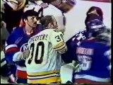 1979-80 - Islanders/Bruins, Game 2 - Bench Clearing Brawl (inc 4 goalies)