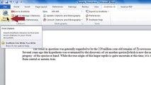 CWYW: Adding Citations to a Word Document