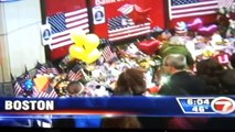 Boston Marathon Bombing, Finish Line Memorial, Interview w/ Lynn Julian, Boston Actress