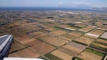 Kavala Greece airport approach and landing