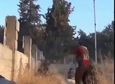 Kobane;YPG KURDS FIGHT AGANIST ISIS' s T-55 and BMP-1 2014- Kurdi respingono attacco dell'ISIS