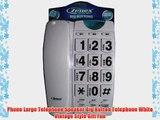 Phone Large Telephone Speaker Big Button Telephone White Vintage Style Gift Fun