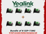 Yealink SIP-T38G - Bundle of 8 Gigabit Color IP Phone SIP-T38G