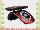 VTech VTLS6195-16 Retro-Design Phone with Rotary Keypad (Red)