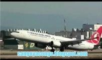 Un avion Turkish airlines remet les gaz à l'atterissage et Evite ainsi le Crash