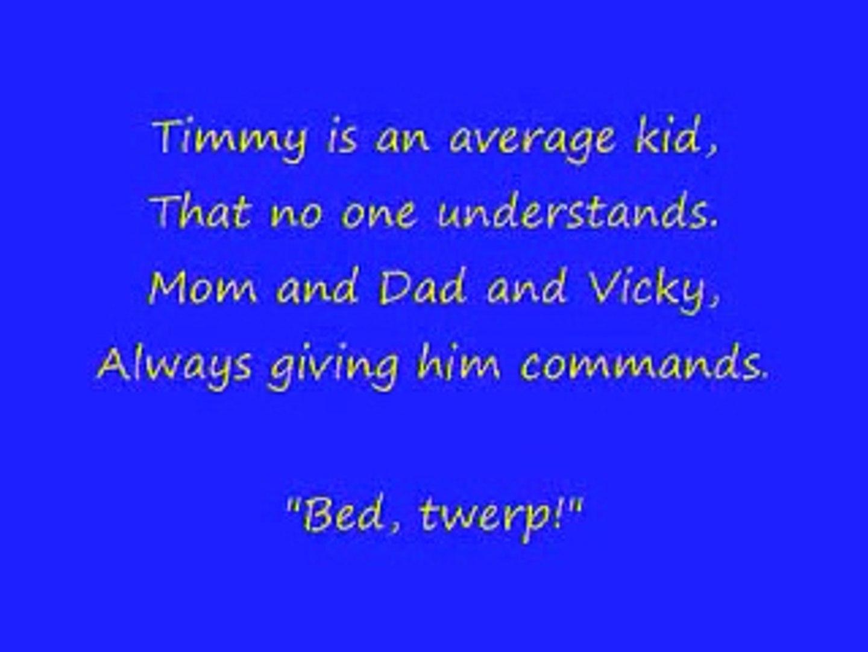 lyrics to fairly odd parents theme song