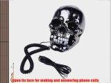 Tobey Skull Shape Flashing Novelty Home Phone Wired Telephone