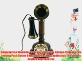 ShippingFree Wood Color Classic Old Timey Antique Vintage Style Looking Push Botton Rotary